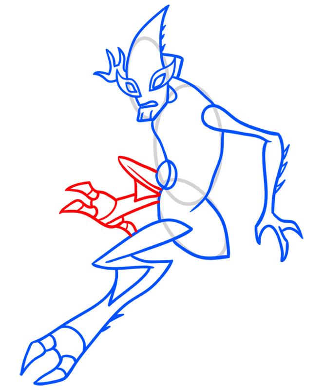 Learn easy to draw crashhopper step 07