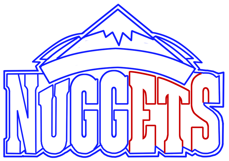 Learn easy to draw denver nuggets step 07