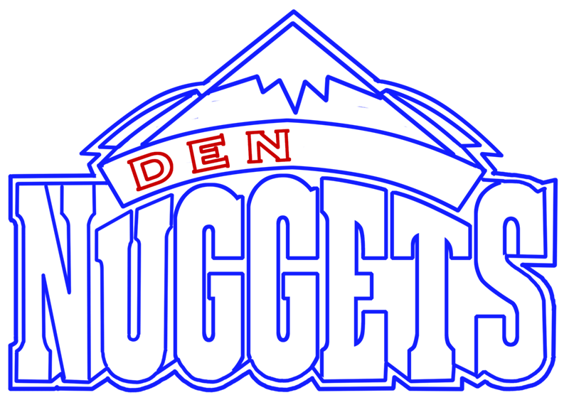 Learn easy to draw denver nuggets step 08