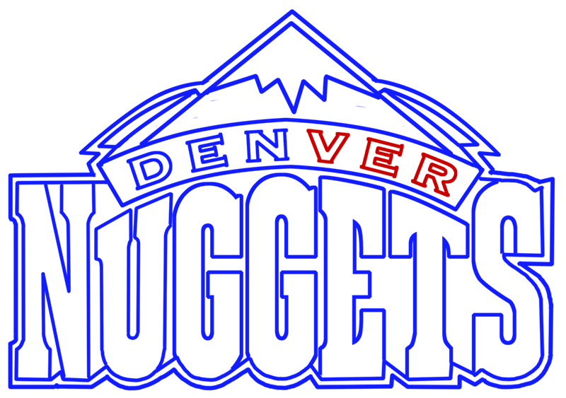 Learn easy to draw denver nuggets step 09
