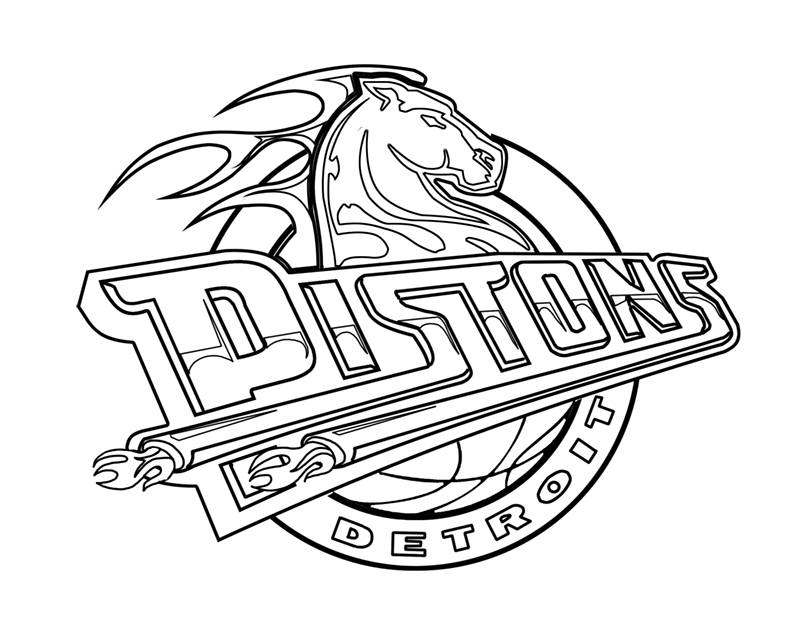 Learn easy to draw detroit pistons step 16