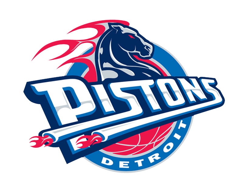Learn easy to draw detroit pistons step 17
