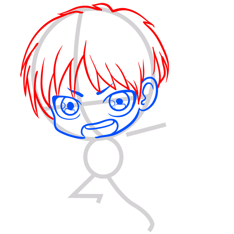 Learn easy to draw eren chibi step 04