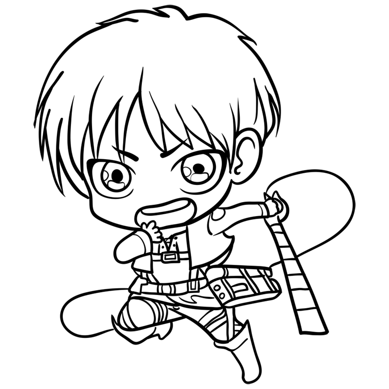 Learn easy to draw eren chibi step 10
