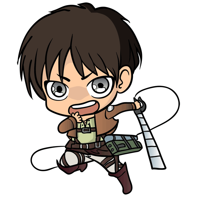 Learn easy to draw eren chibi step 11