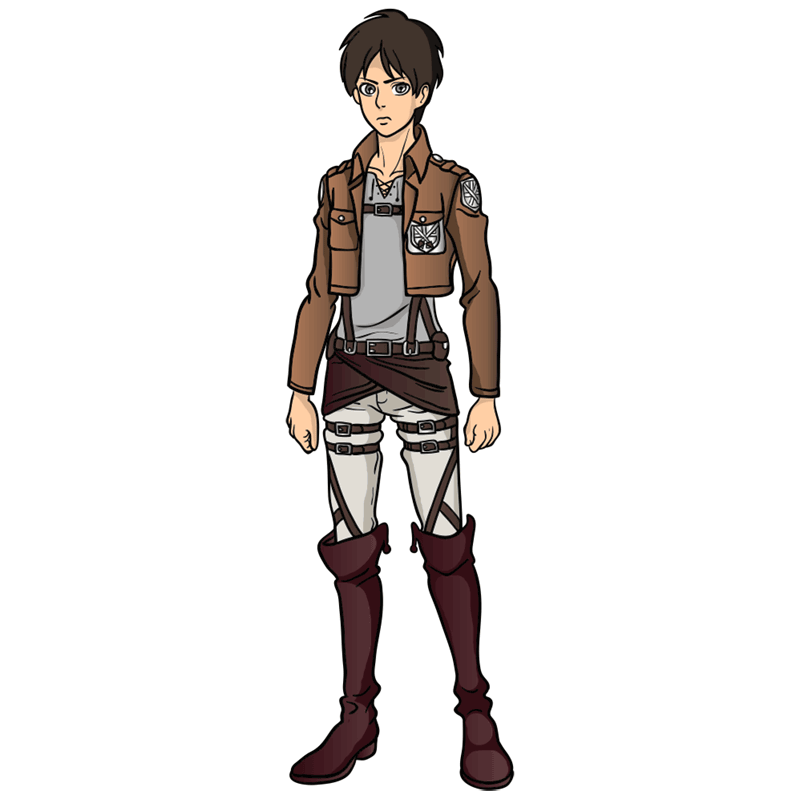 Learn easy to draw eren jaeger step 00
