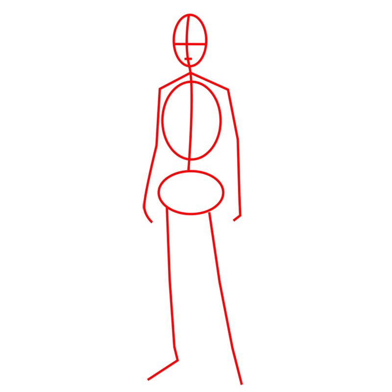 Learn easy to draw eren jaeger step 01