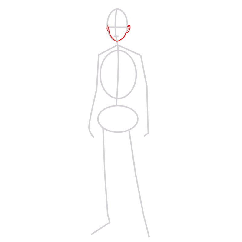 Learn easy to draw eren jaeger step 02