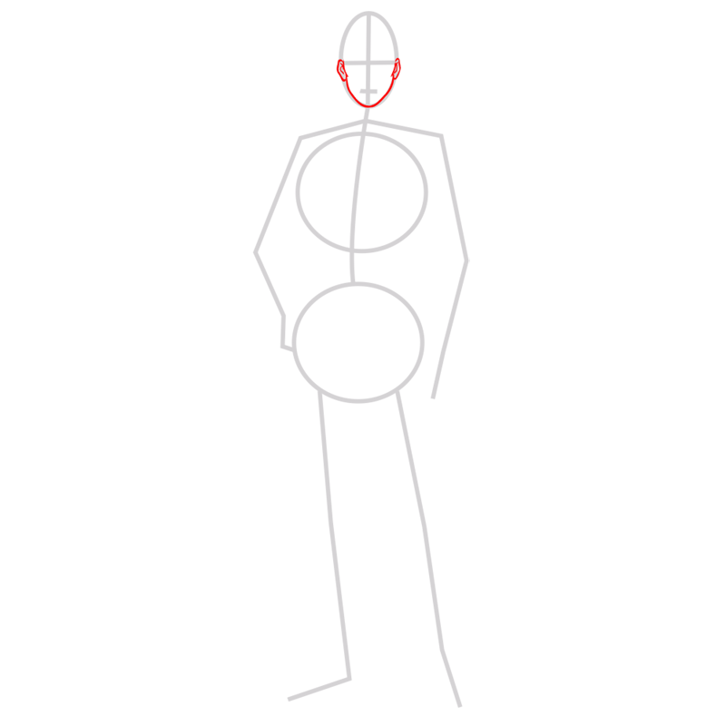 Learn easy to draw erwin smith step 02