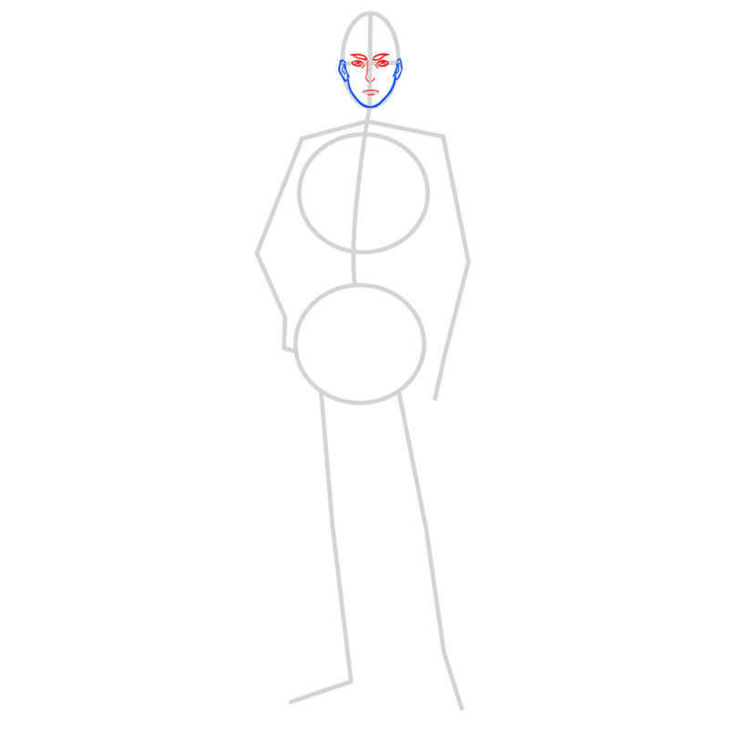 Learn easy to draw erwin smith step 03