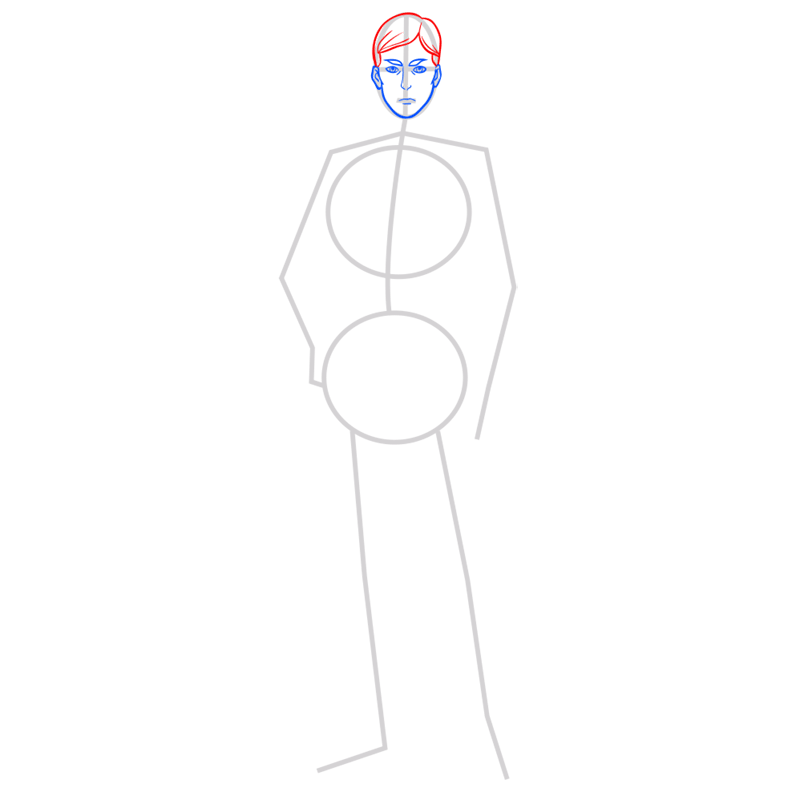 Learn easy to draw erwin smith step 04