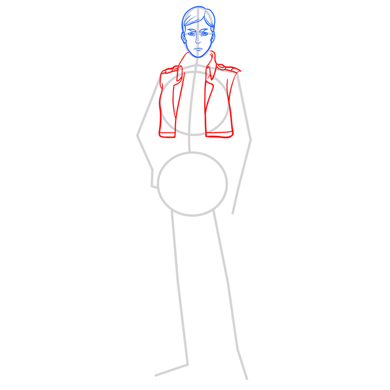 Learn easy to draw erwin smith step 05