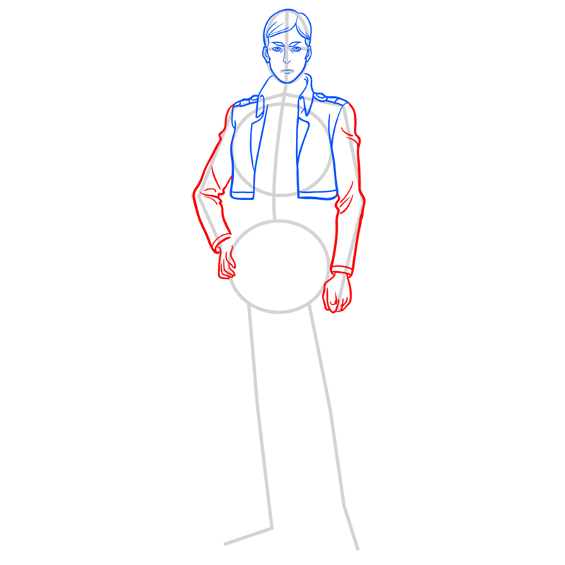 Learn easy to draw erwin smith step 06