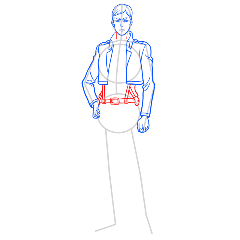 Learn easy to draw erwin smith step 07
