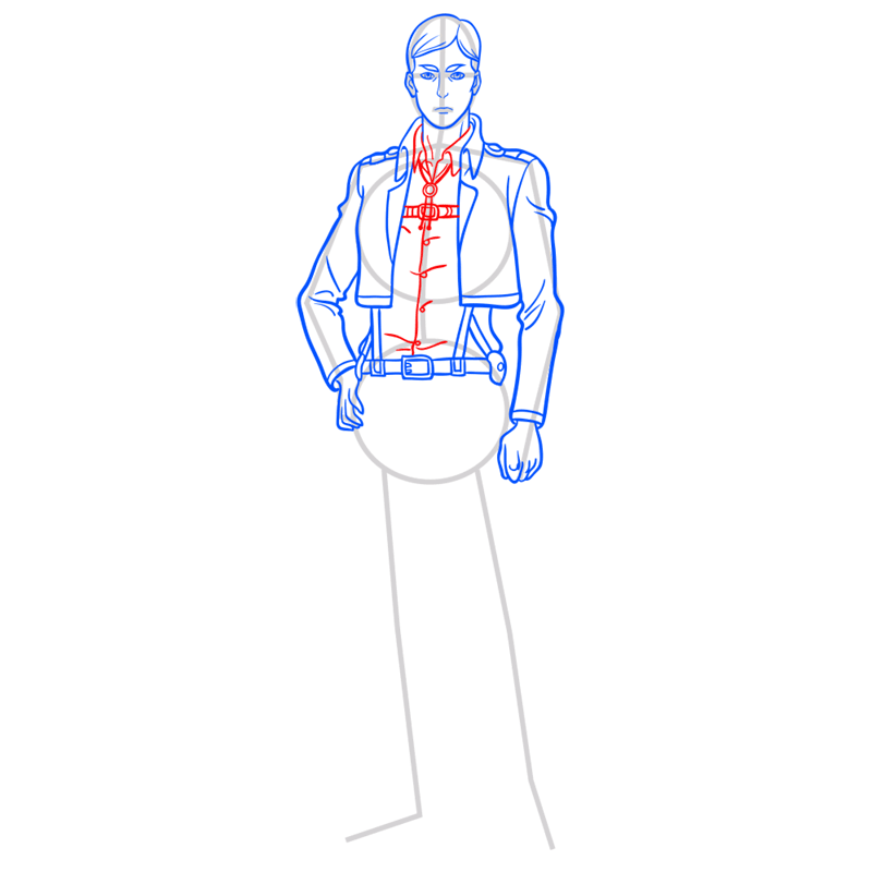 Learn easy to draw erwin smith step 08