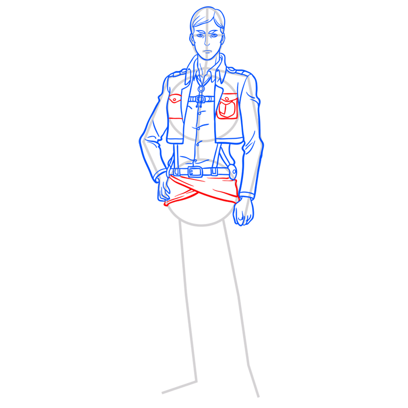Learn easy to draw erwin smith step 09
