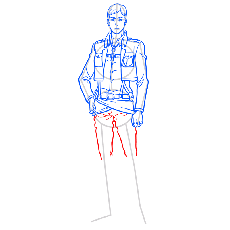 Learn easy to draw erwin smith step 10