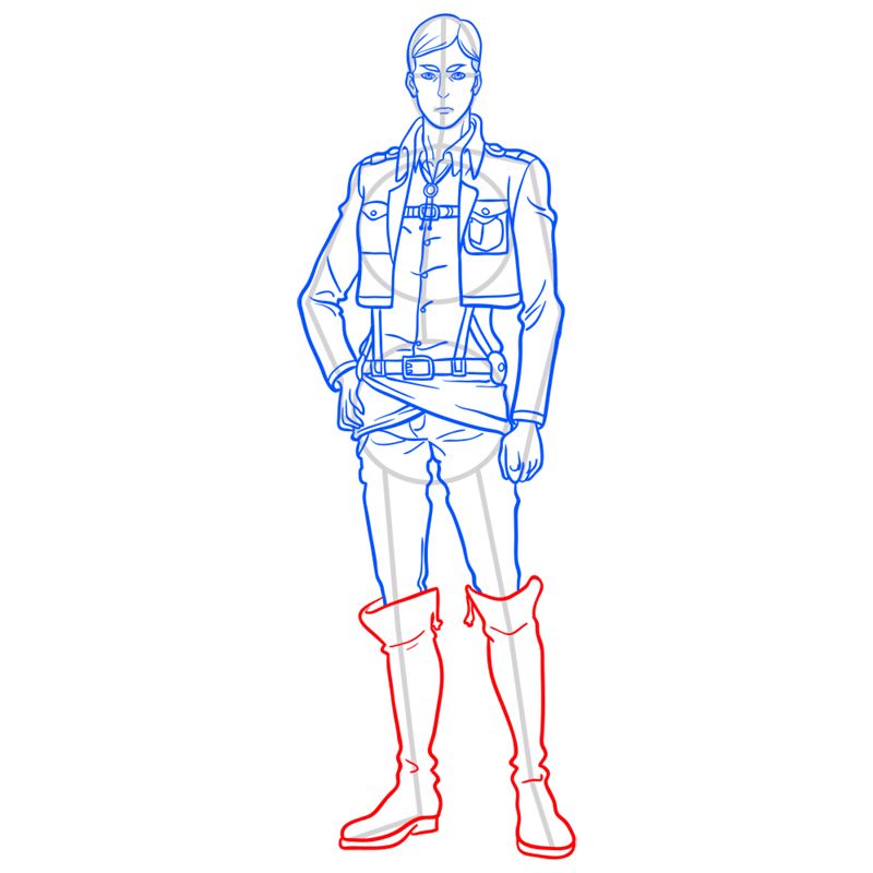 Learn easy to draw erwin smith step 11