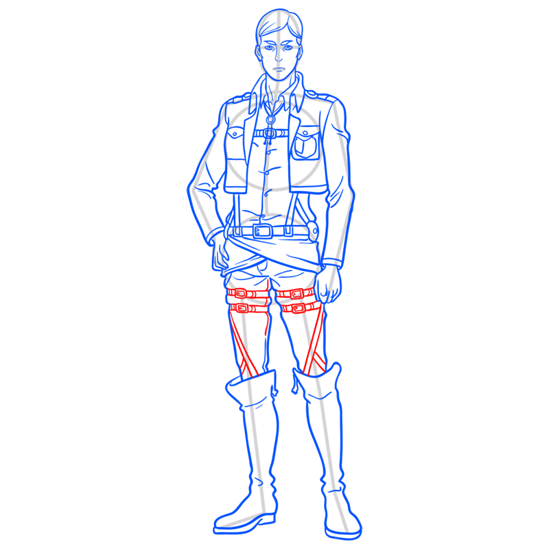 Learn easy to draw erwin smith step 12