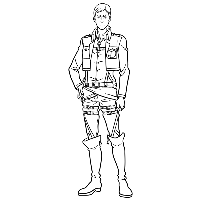 Learn easy to draw erwin smith step 13