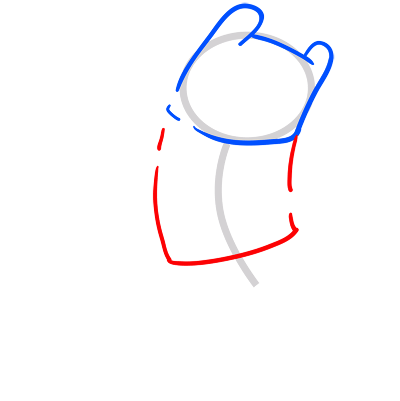 Learn easy to draw finn step 03