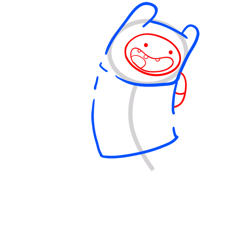 Learn easy to draw finn step 04