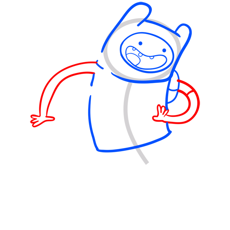 Learn easy to draw finn step 05