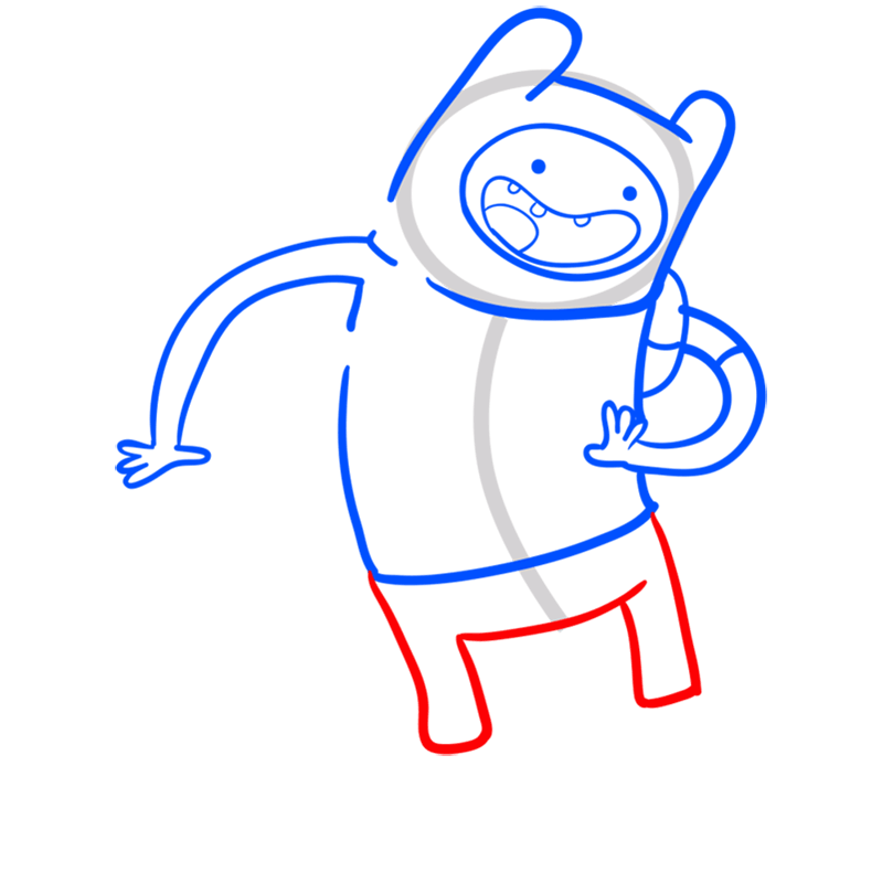 Learn easy to draw finn step 06