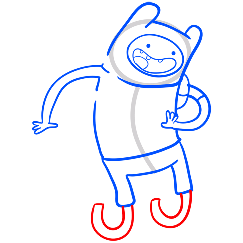 Learn easy to draw finn step 07