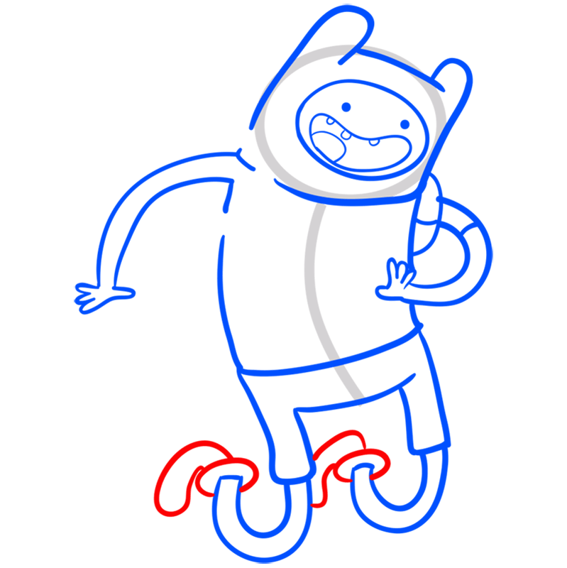 Learn easy to draw finn step 08