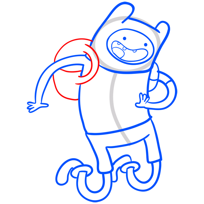Learn easy to draw finn step 09