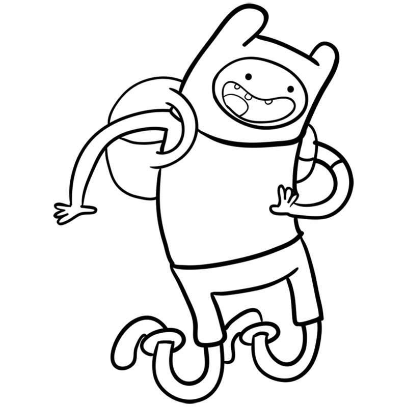 Learn easy to draw finn step 10