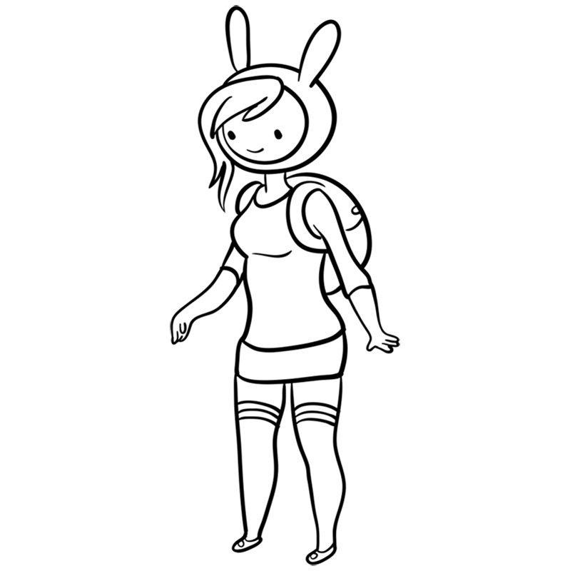 Learn easy to draw fionna step 09