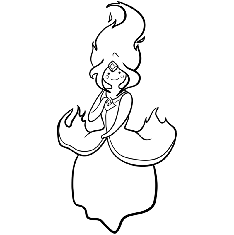 Learn easy to draw flame princess step 10