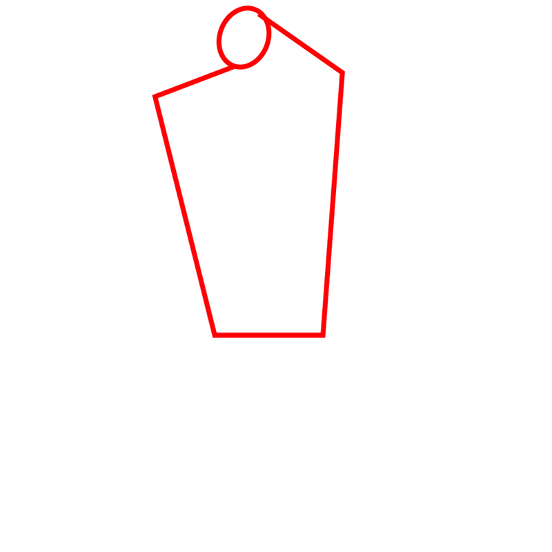 Learn easy to draw four arms step 01