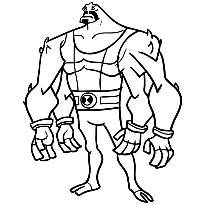 Learn easy to draw four arms step 09