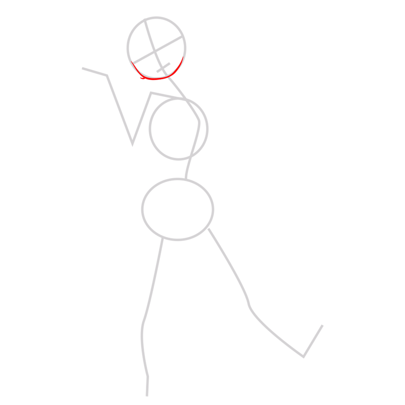 Learn easy to draw gogo tomago step 02