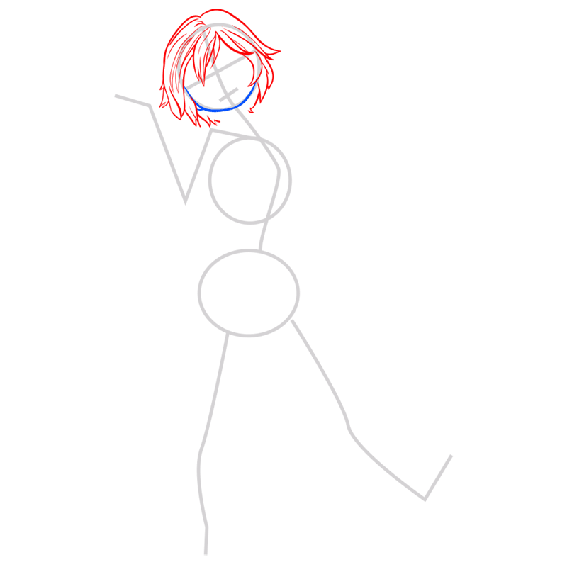 Learn easy to draw gogo tomago step 03