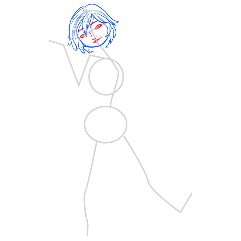 Learn easy to draw gogo tomago step 04