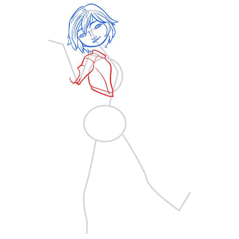 Learn easy to draw gogo tomago step 05