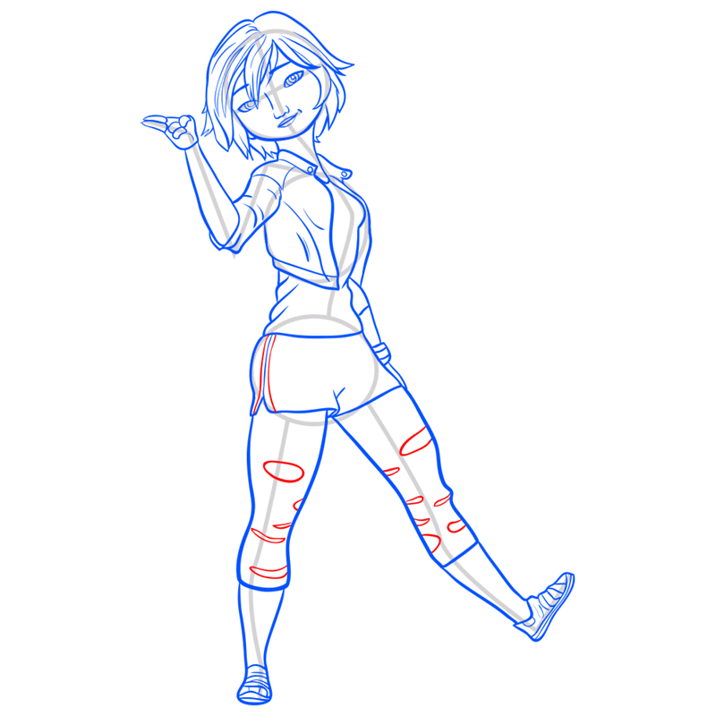 Learn easy to draw gogo tomago step 10