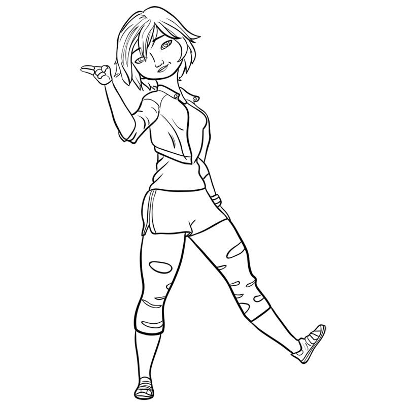 Learn easy to draw gogo tomago step 11