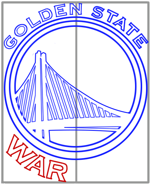 Learn easy to draw golden state warriors step 10