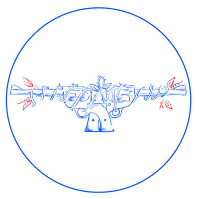 Learn easy to draw guns n roses step 10