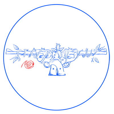 Learn easy to draw guns n roses step 11