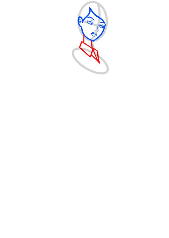 Learn easy to draw gwen tennyson step 04
