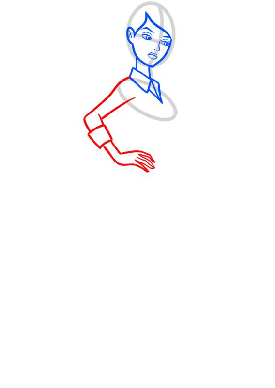 Learn easy to draw gwen tennyson step 05
