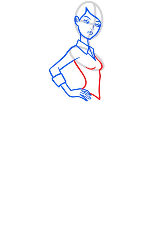 Learn easy to draw gwen tennyson step 06