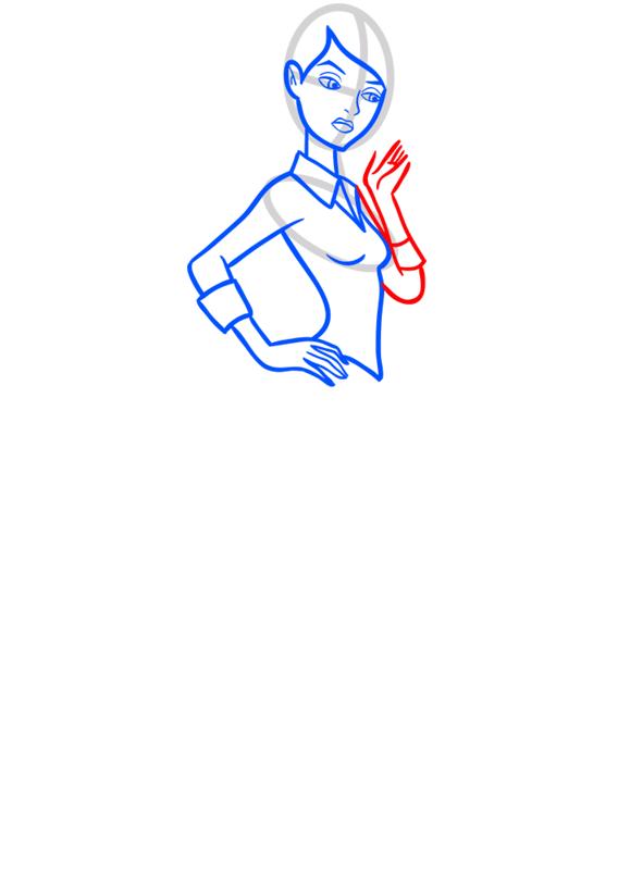 Learn easy to draw gwen tennyson step 07