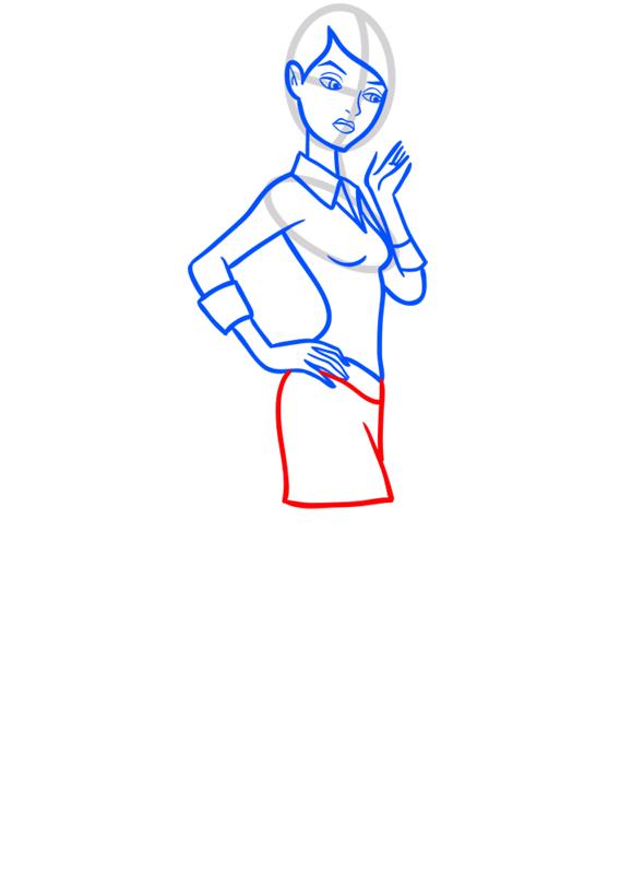 Learn easy to draw gwen tennyson step 08